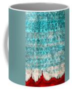Tufas In The Mist Original Painting Coffee Mug