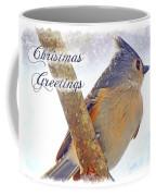 Tufted Titmouse Christmas Card Coffee Mug