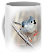Tufted Titmouse Love  Coffee Mug