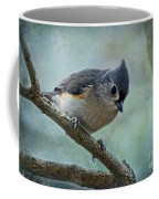 Tufted Titmouse With Snowflake Decorations Coffee Mug