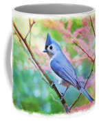 Tufted Titmouse With Spring Booms - Digital Paint II Coffee Mug