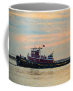 Tug Boat Hard At Work Coffee Mug