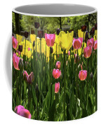Tulip Time Pink Yellow Black Beauty Coffee Mug