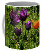 Tulip Time Purple And Orange Coffee Mug