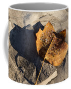 Tulip Tree Leaf - Frozen Raindrops In The Sunshine Coffee Mug