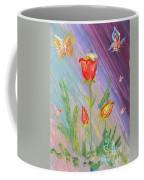 Tulips And Butterflies Coffee Mug