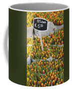 Tulips For Sale In Market, Close Up Coffee Mug
