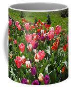 Tulips Garden Art Prints Colorful Spring Floral Coffee Mug
