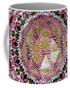 Tulips Kaleidoscope Under Polyhedron Glass Coffee Mug