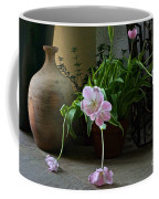 Tulips With Earthenware Jar And Wrought Iron Coffee Mug