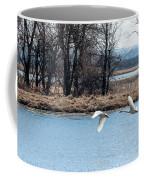 Tundra Swan Flight Coffee Mug
