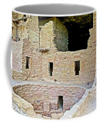 Tunnel Opening In Kiva Of Spruce Tree House On Chapin Mesa In Mesa Verde National Park-colorado  Coffee Mug