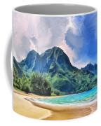 Tunnels Beach Kauai Coffee Mug