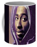 Tupac Shakur And Lyrics Coffee Mug by Tony Rubino