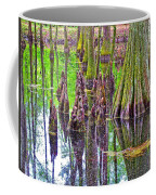 Tupelo/cypress Swamp Reflection At Mile 122 Of Natchez Trace Parkway-mississippi Coffee Mug