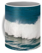 Turbulent Water Of Breaking Ocean Wave And Spray Coffee Mug