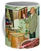 Turkish Rug Salesman Explains About Natural Dye Vats In Weaving Factory In Avanos-turkey  Coffee Mug