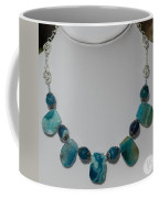 Turquoise And Sapphire Agate Necklace 3674 Coffee Mug