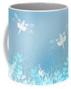 Turquoise Dragonfly Art Coffee Mug