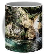 Turquoise Forest Pond On A Summer Day No2 Coffee Mug