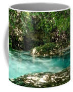 Turquoise Forest Pond On A Summer Day No3 Coffee Mug