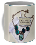 Turquoise French Francs Dragonfly Necklace Coffee Mug
