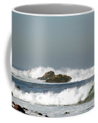 Turquoise Waves Monterey Bay Coastline Coffee Mug