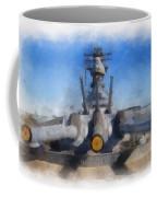 Turrets 1 And 2 Uss Iowa Battleship Photo Art 01 Coffee Mug