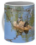 Turtles On Stump Coffee Mug