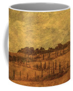 Landscape And Winding Road With Cypress Trees Coffee Mug