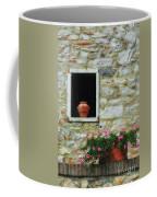 Tuscan Window And Flower Pot Coffee Mug