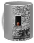 Tuscan Window And Pot Bw And Color Coffee Mug