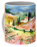 Tuscany Landscape 02 Coffee Mug by Miki De Goodaboom
