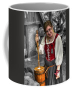 Tutor Milkmaid Churning Butter  V2 Coffee Mug