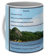 Twenty Third Psalm And Mountains Coffee Mug