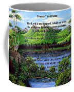 Twenty-third Psalm And Twin Ponds Coffee Mug