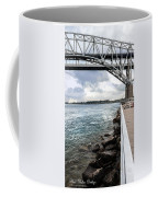 Twin Bridges Over Blue Water Coffee Mug
