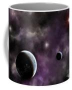 Twin Planets With Nebula Coffee Mug