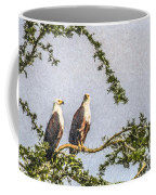 Two African Fish Eagles Haliaeetus Vocifer  Coffee Mug