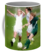 Two Against One Expressionist Soccer Battle  Coffee Mug