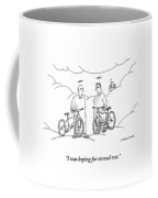 Two Angels With Bicycles Converse. Another Angel Coffee Mug