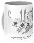 Two Bearded Men In Torn Clothing Lie Coffee Mug