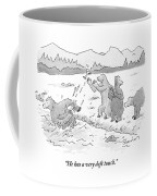 Two Bears Drink Martinis On The Bank Of A River Coffee Mug