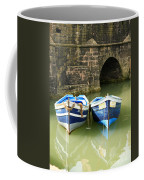 Two Blue Fishing Boats Coffee Mug