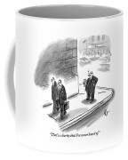 Two Businessmen Pass A Rich Man Smoking A Cigar Coffee Mug