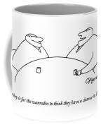 Two Businessmen Speak To Each Other Coffee Mug