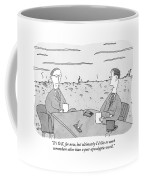 Two Businessmen Talk At A Desk Scorched Earth Coffee Mug