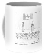 Two Candidates For Prime Minister Of Canada Coffee Mug by Paul Noth