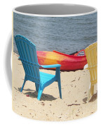 Two Chairs And A Boat Coffee Mug