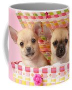 Two Chihuahuas Coffee Mug by Greg Cuddiford